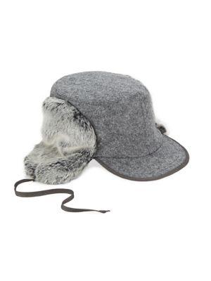 Woodsman Faux Fur Trapper Hat
