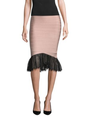 Lace Hem Bandage Skirt