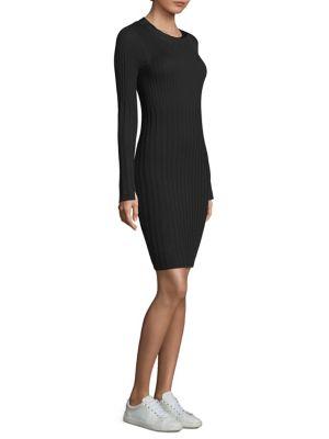 Variegated Rib Merino Wool Sweater Dress