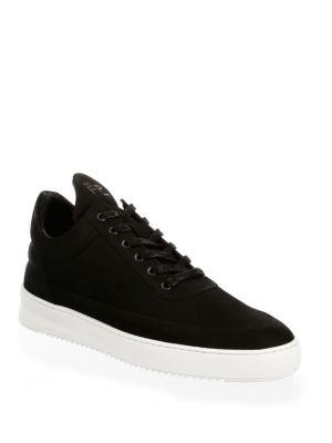 Low-Top Ripple Leather Sneakers