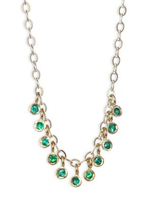 Emerald & 14K Yellow Gold Necklace