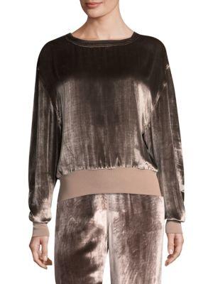 Crushed Velvet Pullover