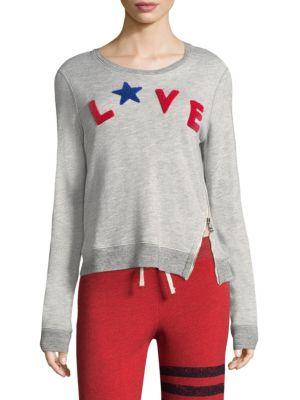 Love Zipper Sweatshirt