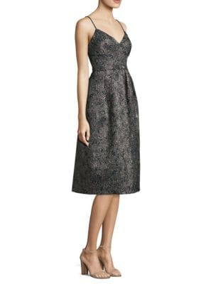Jacquard Fit-&-Flare Dress