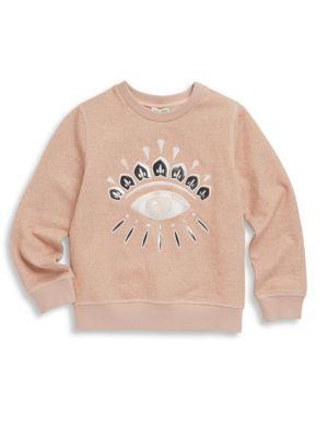 Toddler's, Little Girl's & Girl's Eyelash Sweatshirt