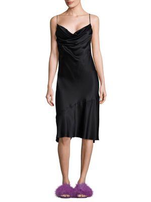 Silk Cowlneck Dress