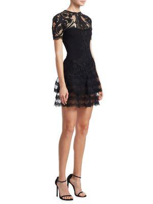 Crepe Applique Mini Tee Dress