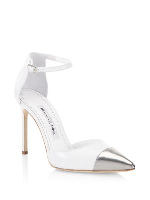 Trova Leather Point Toe Pumps by Manolo Blahnik