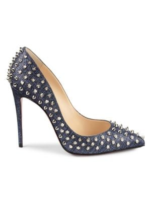 pretty nice 8af15 4ea7e Follies Spikes Denim Pumps, Denim/Silv