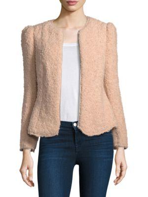 Fluffy Tweed Jacket