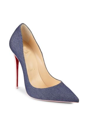 SO KATE DENIM & PATENT LEATHER PUMPS