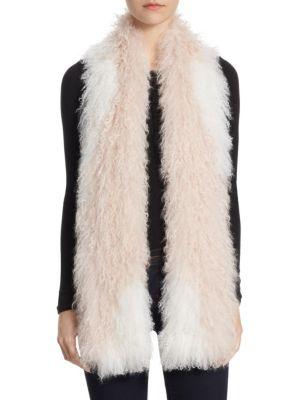 THE FUR SALON Knit Lamb Fur Scarf