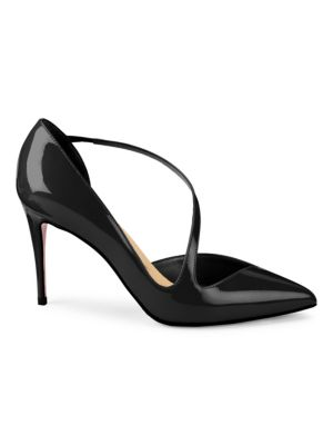 JUMPING 100 BLACK PATENT LEATHER PUMPS