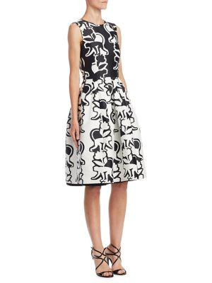 Monkey-Print Cotton Dress
