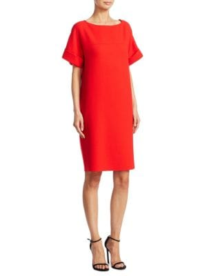 Wool Bateau Neck Dress
