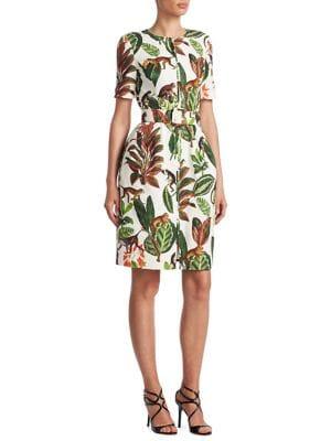 Cotton Monkey-Print Dress