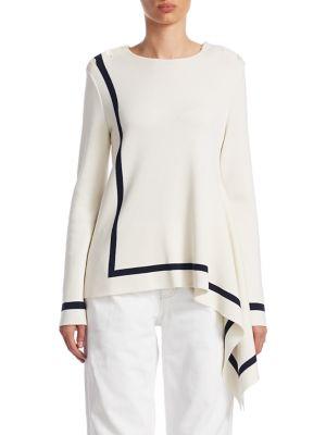 Asymmetrical Hem Pullover