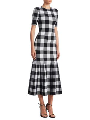 Buy Oscar de la Renta Checked Wool Dress online with Australia wide shipping