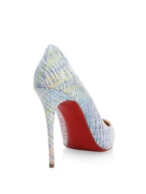 CHRISTIAN LOUBOUTIN Pigalle Follies Suede Point Toe Pumps, Multi