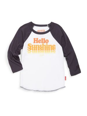 Baby Boy's, Toddler's, Little Boy's & Boy's Hello Sunshine Cotton Tee