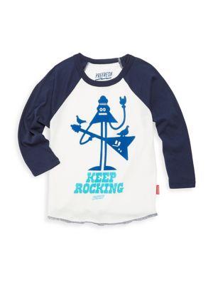 Baby Boy's, Toddler's, Little Boy's & Boy's Keep Rocking Cotton Tee