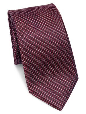 COLLECTION Neat Grid Silk Tie