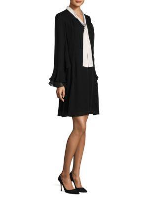 Ruffle Silk Dress