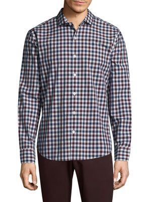 BONOBOS | Plaid Slim-Fit Cotton Button-Down Shirt | Goxip