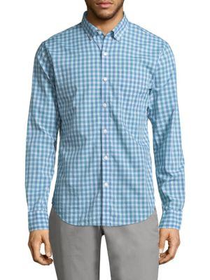 BONOBOS | Summerweight Slim-Fit Checkered Button-Down Shirt | Goxip