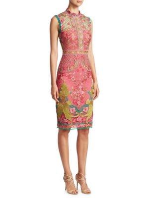 Guipure Knee-Length Dress
