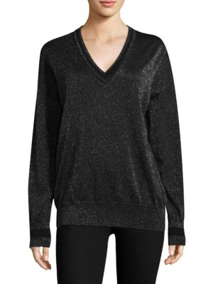 Lucinda V-Neck Lurex Sweater