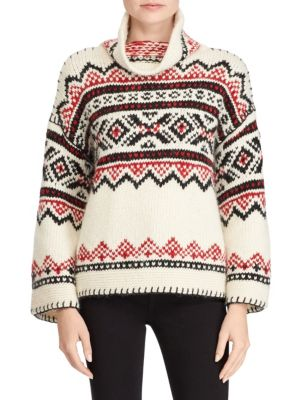 Printed Funnelneck Sweater