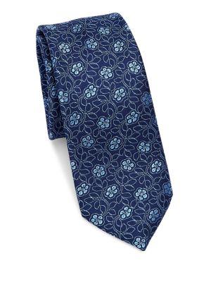 MODERN Floral Silk Tie