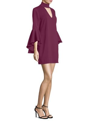 Italian Cady Andrea Bell Sleeve Dress