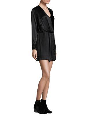 Victor Silk Velvet Wrap Dress