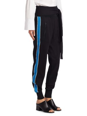 Waist Tie Cotton Jogger Pants