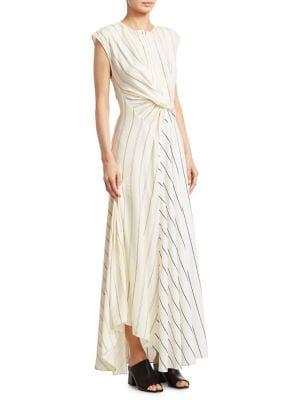 Outlet Supply Cheap Brand New Unisex Twisted Striped Poplin Maxi Dress 3.1 Phillip Lim l8SFe0HrX