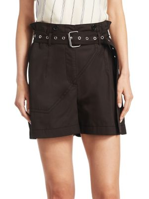 Utility Belted Cotton Shorts