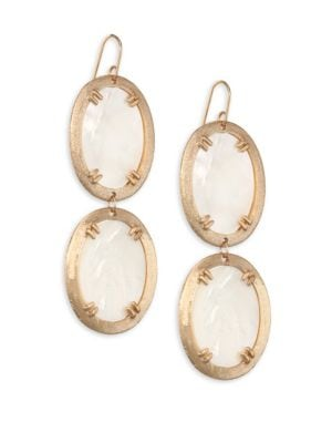 Paris Mother-Of-Pearl Double Oval Earrings