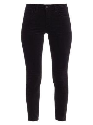 Margot High-Rise Ankle Skinny Velvet Jeans
