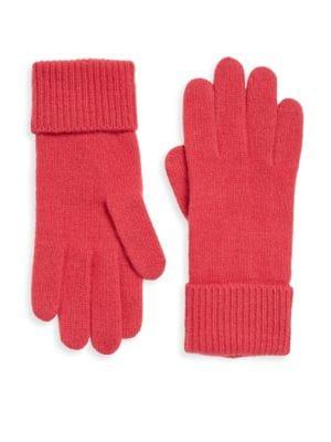 PORTOLANO Folded Cuffs Cashmere Gloves