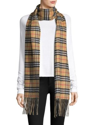 Reversible Check Cashmere Scarf