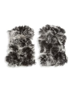 Dip Dye Rabbit Fur Gloves