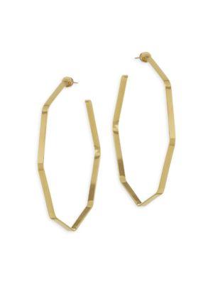 Angular Gold Hoops