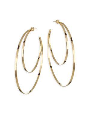 Zume Double Hoop 18K Yellow Vermeil Earrings