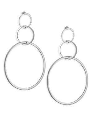 Moore Sterling Silver Hoop Earrings
