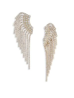 Pave Fringe Crawler Earrings