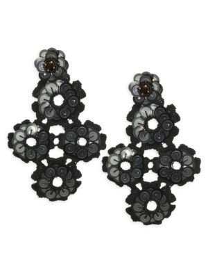Posy Grove Sequin Statement Earrings