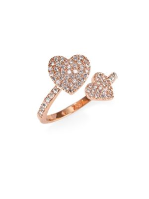 Checking In Pave Heart Ring