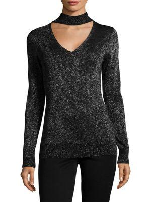 Lurex Choker Sweater